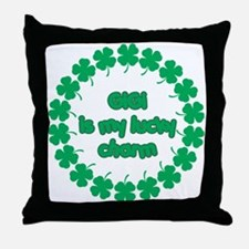 GiGi is My Lucky Charm Throw Pillow