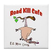 Road Kill Cafe Eat Moe Coon Tile Coaster
