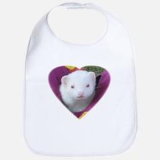 Coconut Heart Ferret Bib