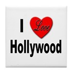 I Love Hollywood Tile Coaster