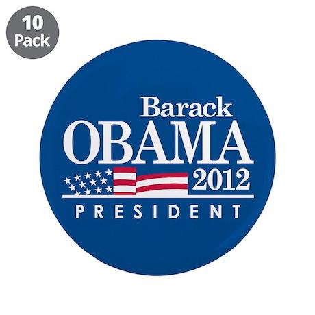 """Barack Obama 3.5"""" Button (10 pack)"""