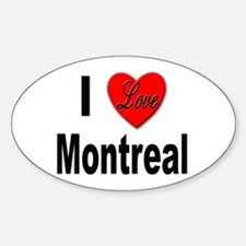 I Love Montreal Quebec Oval Decal