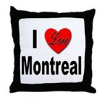 I Love Montreal Quebec Throw Pillow