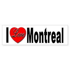 I Love Montreal Quebec Bumper Bumper Sticker