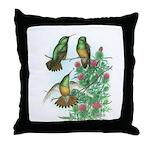 Buff-bellied Hummingbirds Throw Pillow
