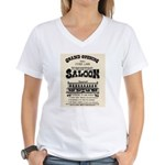 Tombstone Saloon Women's V-Neck T-Shirt
