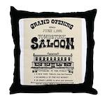Tombstone Saloon Throw Pillow