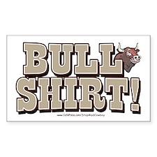 Bull Shirt Rectangle Decal