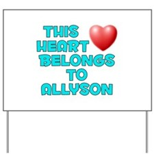 This Heart: Allyson (E) Yard Sign