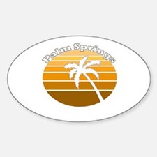 Palm Springs, California Oval Decal