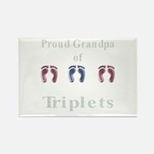 proud grandpa of triplets 2 g Rectangle Magnet