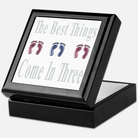 best things come in three Keepsake Box