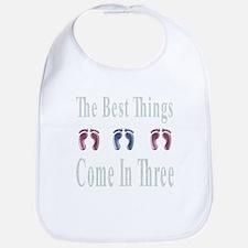 best things come in three Bib