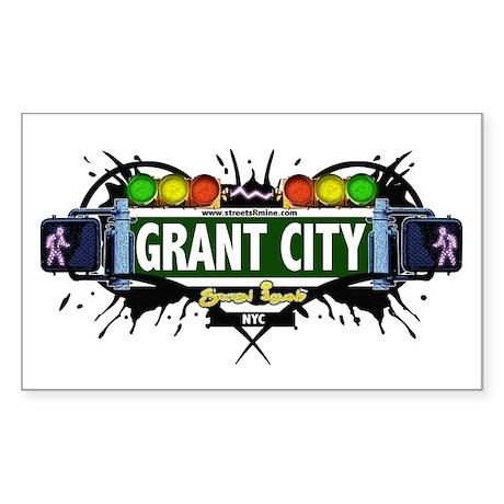 Grant City, Staten Island NYC (White) Sticker (Rec