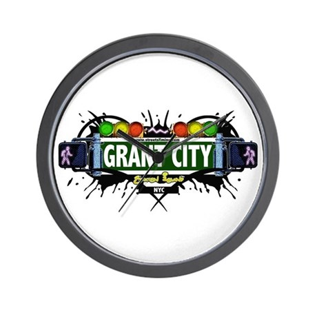 Grant City, Staten Island NYC (White) Wall Clock