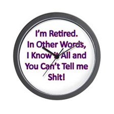I'm Retired Wall Clock