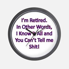 I'm Retired Wall Clock