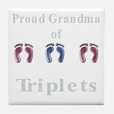 proud grandma of triplets Tile Coaster