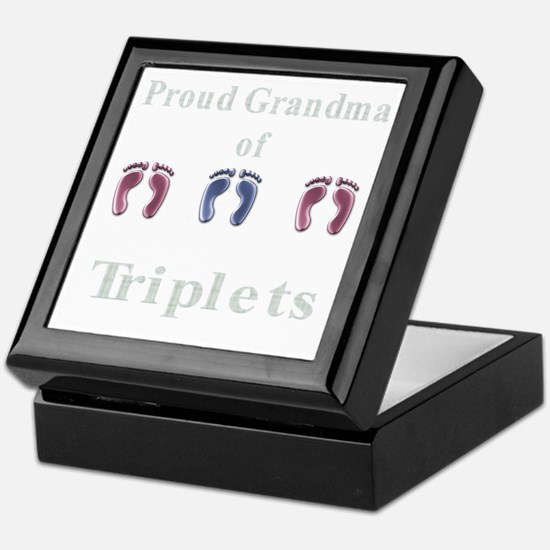 proud grandma of triplets Keepsake Box