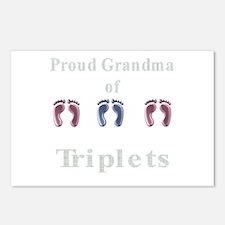 proud grandma of triplets Postcards (Package of 8)