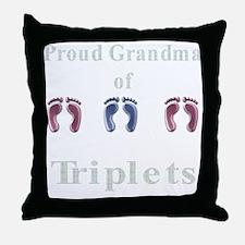 proud grandma of triplets Throw Pillow