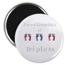 proud grandma of triplets Magnet