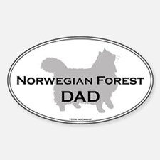 Norwegian Forest Dad Oval Decal