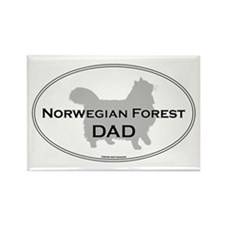 Norwegian Forest Dad Rectangle Magnet