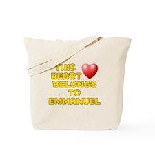 This Heart: Emmanuel (D) Tote Bag