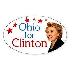 Ohio for Clinton oval bumper sticker