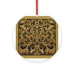 Spanish Ebony Ornament (Round)