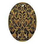 Spanish Ebony Oval Ornament