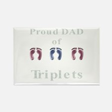 proud dad of triplets Rectangle Magnet