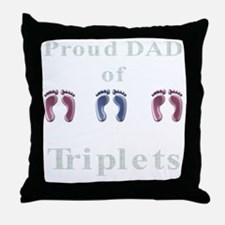 proud dad of triplets Throw Pillow