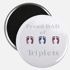proud dad of triplets Magnet