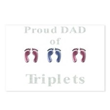 proud dad of triplets Postcards (Package of 8)