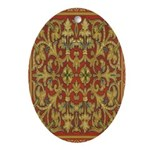 Spanish Ruby Oval Ornament