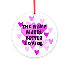 Navy Makes Better Lovers Keepsake Ornament