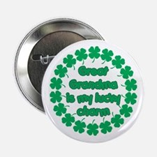 """Great Grandma is My Lucky Charm 2.25"""" Button"""