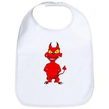 Cartoon Red Devil Bib