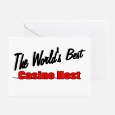 """The World's Best Casino Host"" Greeting Card"