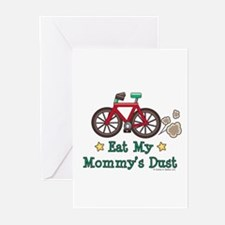 Mommy's Dust Cycling Bicycle Greeting Cards (Pk of