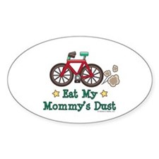 Mommy's Dust Cycling Bicycle Oval Decal