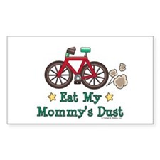Mommy's Dust Cycling Bicycle Rectangle Decal