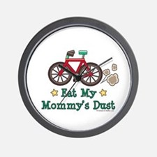 Mommy's Dust Cycling Bicycle Wall Clock