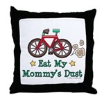 Mommy's Dust Cycling Bicycle Throw Pillow