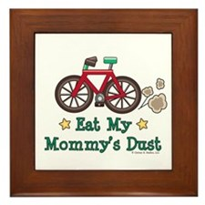 Mommy's Dust Cycling Bicycle Framed Tile