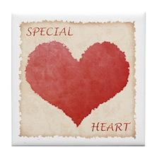 Special Heart Tile Coaster