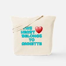 This Heart: Annette (E) Tote Bag