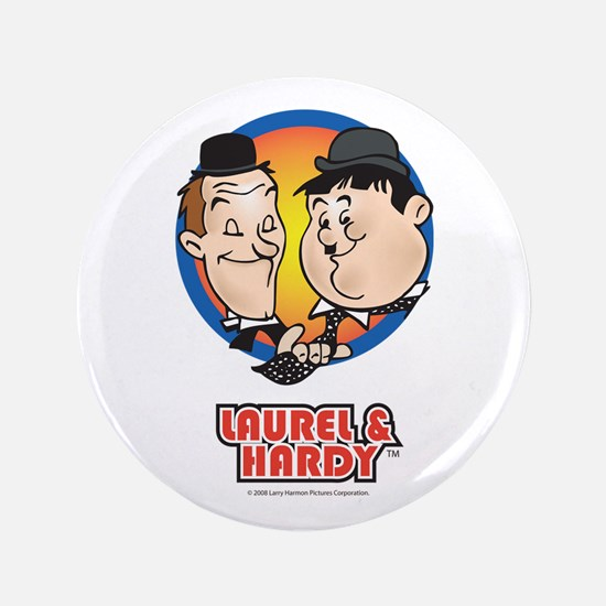 "Cute Laurel and hardy 3.5"" Button"